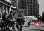 Image of picket line New York City USA, 1941, second 21 stock footage video 65675053245