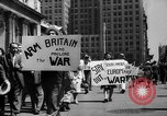 Image of picket line New York City USA, 1941, second 22 stock footage video 65675053245