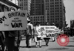 Image of picket line New York City USA, 1941, second 23 stock footage video 65675053245