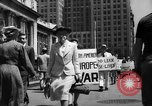 Image of picket line New York City USA, 1941, second 26 stock footage video 65675053245