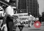 Image of picket line New York City USA, 1941, second 27 stock footage video 65675053245
