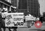 Image of picket line New York City USA, 1941, second 28 stock footage video 65675053245