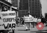 Image of picket line New York City USA, 1941, second 29 stock footage video 65675053245