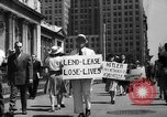 Image of picket line New York City USA, 1941, second 31 stock footage video 65675053245