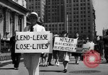 Image of picket line New York City USA, 1941, second 33 stock footage video 65675053245