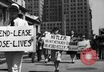 Image of picket line New York City USA, 1941, second 34 stock footage video 65675053245