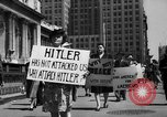 Image of picket line New York City USA, 1941, second 36 stock footage video 65675053245