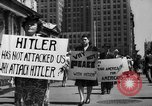 Image of picket line New York City USA, 1941, second 37 stock footage video 65675053245