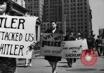 Image of picket line New York City USA, 1941, second 38 stock footage video 65675053245