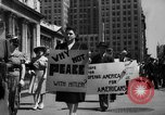 Image of picket line New York City USA, 1941, second 39 stock footage video 65675053245