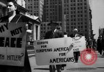 Image of picket line New York City USA, 1941, second 41 stock footage video 65675053245