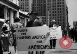 Image of picket line New York City USA, 1941, second 42 stock footage video 65675053245