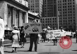 Image of picket line New York City USA, 1941, second 44 stock footage video 65675053245