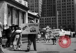 Image of picket line New York City USA, 1941, second 45 stock footage video 65675053245