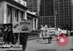 Image of picket line New York City USA, 1941, second 46 stock footage video 65675053245