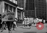 Image of picket line New York City USA, 1941, second 47 stock footage video 65675053245