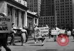 Image of picket line New York City USA, 1941, second 48 stock footage video 65675053245