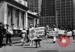Image of picket line New York City USA, 1941, second 49 stock footage video 65675053245