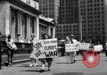 Image of picket line New York City USA, 1941, second 50 stock footage video 65675053245