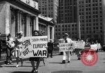 Image of picket line New York City USA, 1941, second 51 stock footage video 65675053245
