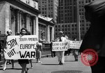 Image of picket line New York City USA, 1941, second 52 stock footage video 65675053245