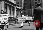 Image of picket line New York City USA, 1941, second 53 stock footage video 65675053245