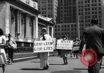 Image of picket line New York City USA, 1941, second 54 stock footage video 65675053245