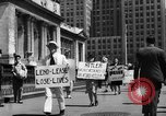 Image of picket line New York City USA, 1941, second 55 stock footage video 65675053245