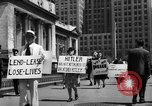 Image of picket line New York City USA, 1941, second 56 stock footage video 65675053245