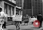 Image of picket line New York City USA, 1941, second 57 stock footage video 65675053245