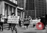 Image of picket line New York City USA, 1941, second 58 stock footage video 65675053245