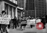 Image of picket line New York City USA, 1941, second 59 stock footage video 65675053245