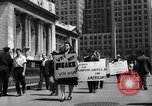 Image of picket line New York City USA, 1941, second 60 stock footage video 65675053245