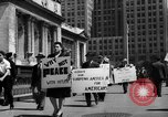 Image of picket line New York City USA, 1941, second 61 stock footage video 65675053245