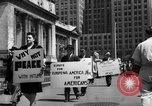 Image of picket line New York City USA, 1941, second 62 stock footage video 65675053245