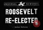 Image of President Franklin D Roosevelt re-elected in 1940 and 1944 New York United States USA, 1940, second 5 stock footage video 65675053255
