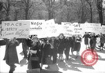 Image of American Peace Mobilization anti-war march in World War 2 Washington DC USA, 1941, second 1 stock footage video 65675053289