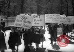 Image of American Peace Mobilization anti-war march in World War 2 Washington DC USA, 1941, second 6 stock footage video 65675053289