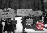 Image of American Peace Mobilization anti-war march in World War 2 Washington DC USA, 1941, second 8 stock footage video 65675053289