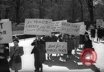 Image of American Peace Mobilization anti-war march in World War 2 Washington DC USA, 1941, second 9 stock footage video 65675053289