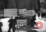 Image of American Peace Mobilization anti-war march in World War 2 Washington DC USA, 1941, second 10 stock footage video 65675053289