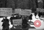 Image of American Peace Mobilization anti-war march in World War 2 Washington DC USA, 1941, second 11 stock footage video 65675053289