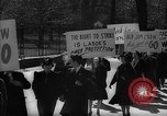 Image of American Peace Mobilization anti-war march in World War 2 Washington DC USA, 1941, second 26 stock footage video 65675053289