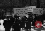 Image of American Peace Mobilization anti-war march in World War 2 Washington DC USA, 1941, second 27 stock footage video 65675053289