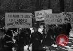 Image of American Peace Mobilization anti-war march in World War 2 Washington DC USA, 1941, second 29 stock footage video 65675053289