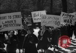 Image of American Peace Mobilization anti-war march in World War 2 Washington DC USA, 1941, second 30 stock footage video 65675053289