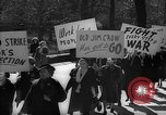 Image of American Peace Mobilization anti-war march in World War 2 Washington DC USA, 1941, second 31 stock footage video 65675053289