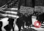 Image of American Peace Mobilization anti-war march in World War 2 Washington DC USA, 1941, second 33 stock footage video 65675053289