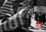 Image of American Peace Mobilization anti-war march in World War 2 Washington DC USA, 1941, second 34 stock footage video 65675053289