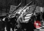 Image of American Peace Mobilization anti-war march in World War 2 Washington DC USA, 1941, second 36 stock footage video 65675053289